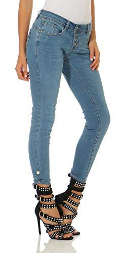 Medio 8 Malibu Elasticizzato Jeans Buena Donna Vista Blue 7 XqqTB0w