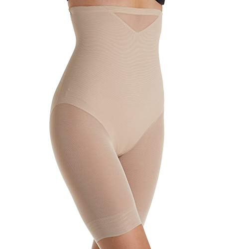 Miraclesuit Shapewear Women's Extra Firm Sexy Sheer Shaping Hi-Waist Thigh Slimmer Nude - Slimmer Waist Hi Thigh