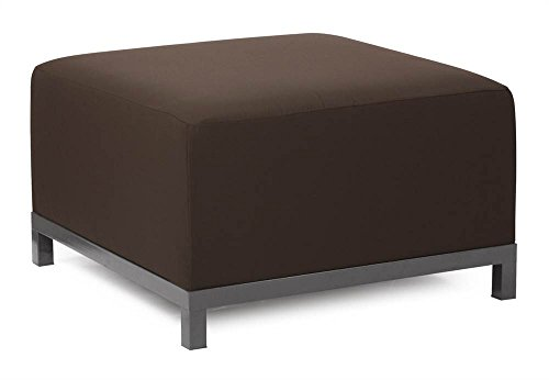 Howard Elliott Q902-898 Axis Ottoman Slipcover, Starboard Chocolate by Howard Elliott Collection