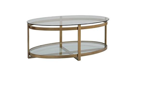 Amazon.com: Retro Glitz Contemporary Glass/ Metal Coffee Table: Kitchen U0026  Dining