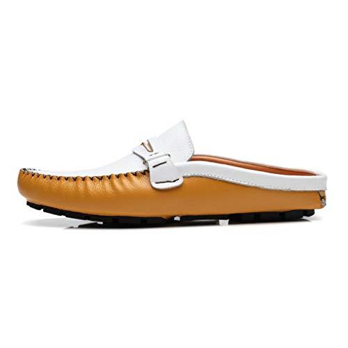 Perezosos de Mulas Cuero Hombres Zapatos y YaXuan Mocasines Verano Primavera Diarios de para Oficina conducción de UN Zapatos Zuecos aBqxw6