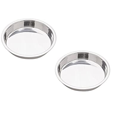 Norpro 9-Inch Stainless Steel Cake Pan, Round (2 Pack)