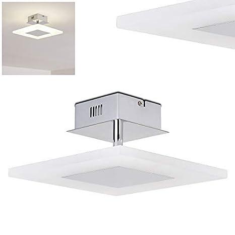 LED Lámpara de techo Driewegen de metal cromado- dormitorio ...