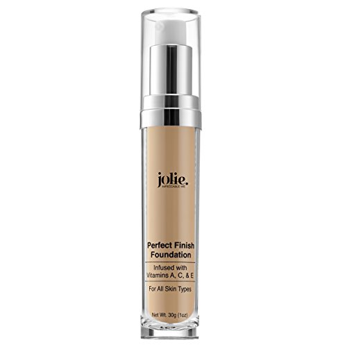 Jolie Perfect Finish Liquid Foundation Makeup SPF 15 Oil Free (LW1)
