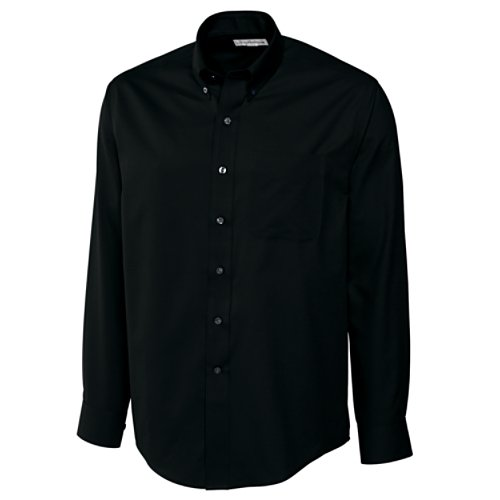 Cutter & Buck Men's Epic Easy Care Fine Twill Shirt, Black, XXX-large