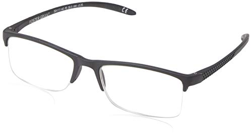 FGX International Men's Paolo 1016907-325.COM Square Reading Glasses, Black, 3.25