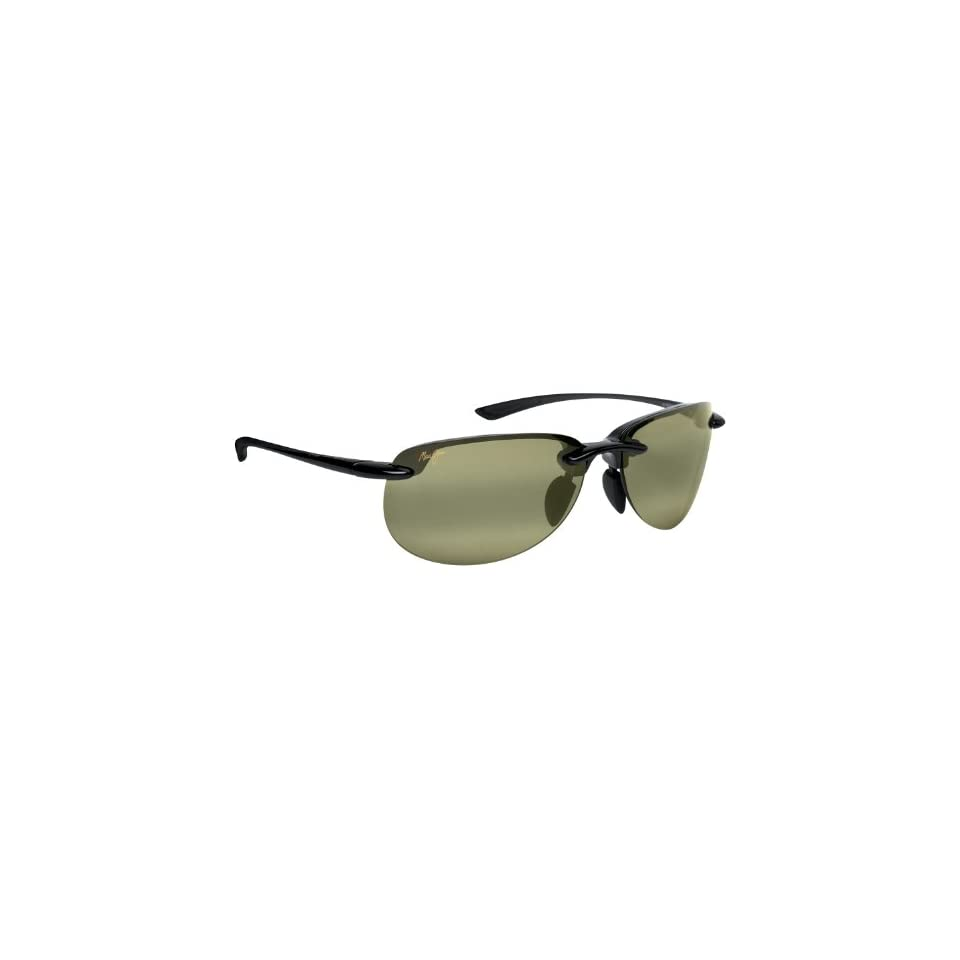 com Maui Jim Hapuna 414 Sunglasses, Blk/High Trans. Lens, Sunglasses