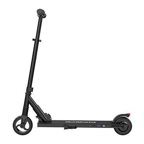 MegaWheels Patinete Eléctrico Plegable Scooter 8.5kg Ultra Ligeros Velocidad Máxima 23km/h para Corta Distancia, Adolescentes y Adultos