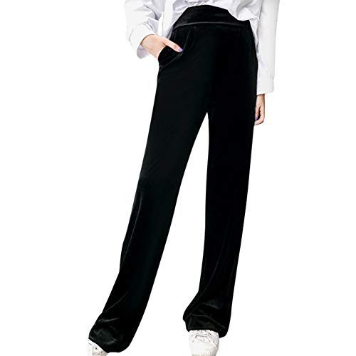 (Weiliru Velvet Pants for Women High Waist Pants Loose Trousers Wide-Legged Causal Pant)