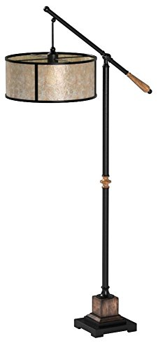 Uttermost 28584-1 Sitka Lamp, Aged Black Metal (Uttermost Rustic Floor Lamp)