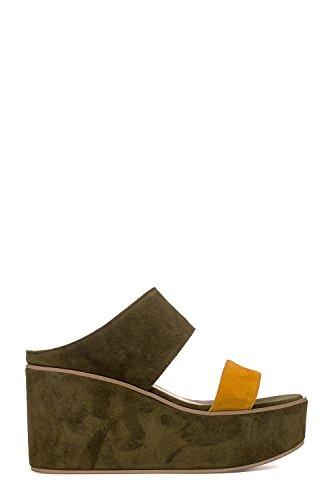 Compensées Femme Vert Chaussures SACE204VERDE Suède RUSCONI FABIO nqaY6x8wZ