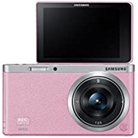 Samsung NX Mini 20.5MP CMOS Smart WiFi & NFC Mirrorless Digital Camera with 9mm Lens and 3 Flip Up LCD Touch Screen (Pink)