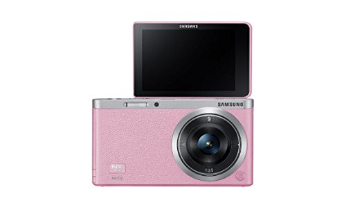 Samsung-NX-Mini-205MP-CMOS-Smart-WiFi-NFC-Mirrorless-Digital-Camera-with-9mm-Lens-and-3-Flip-Up-LCD-Touch-Screen-Pink
