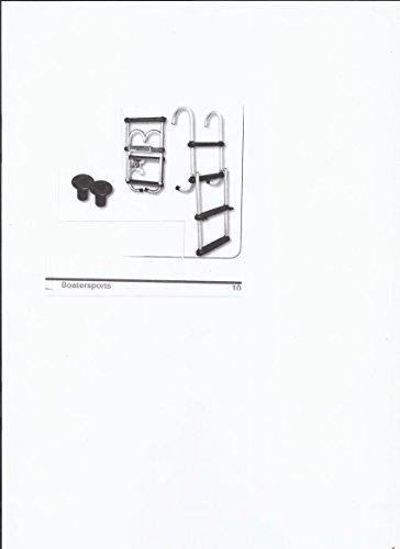 FOLDING PONTOON BOAT LADDER 4-STEP