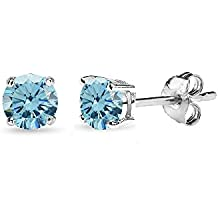 Sterling Silver 4mm Stud Earrings Made with Swarovski Crystals