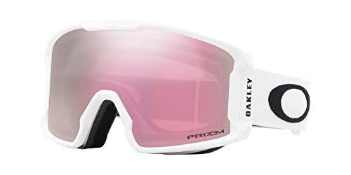 - Oakley Line Miner Snow Goggle, Matte White, Medium, Prizm Hi Pink Iridium Lens