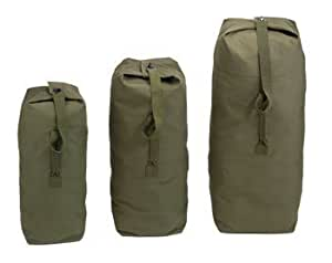 Olive Drab - Military Large Top Load Duffle Bag, (Cotton Canvas)