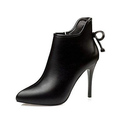 Wsx & Plm Femmes-bottines-formelle-confortable-a Stiletto-faux Cuir-noir Gris Champagne, Champagne, Us8 / Eu39 / Uk6 / Cn39
