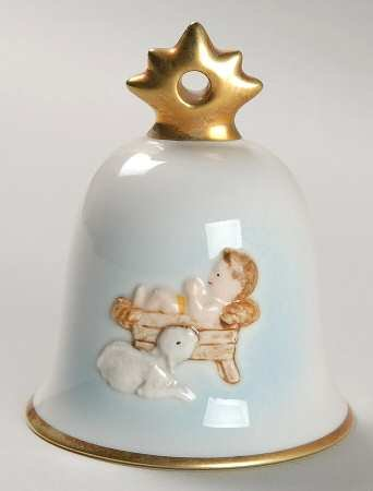 Goebel ** 1997 Annual Christmas Bell Ornament - Baby Jesus ** 102727
