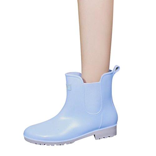 Lluvia Botas Botas Boot Zapatos Azul Shorty Mujer de Agua Xinwcang Casual Muy Ligera Antideslizante de Impermeable wIFqtAfxn5
