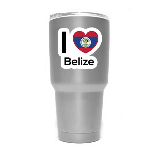 Love Belize Flag Decal Sticker Home Pride Travel Car Truck Van Bumper Window Laptop Cup Wall - Two 3 Inch Decals - MKS0190 (Best Fishing In Belize)