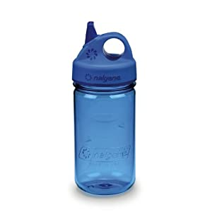 NALGENE Tritan Grip-N-Gulp BPA-Free Water Bottle,Slate Blue,12 Ounces