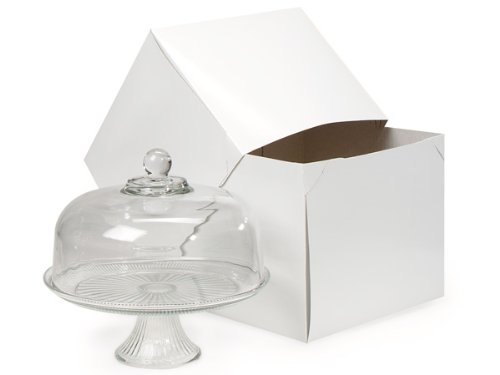 Gloss White 2 Pc Gift Boxes - White Gloss Gift Boxes 12x12 X 10 100% Recycled - 2 Piece China Boxes (25 boxes) - WRAPS-WC18