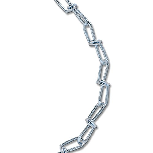 Koch Industries A15932 3 0 Double Loop Electro Galvanized Chain  20 Feet  Zinc Plated