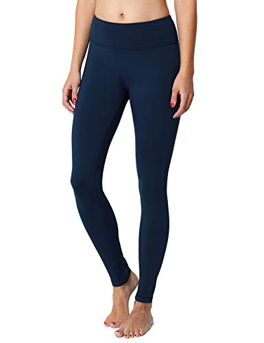 BALEAF Women's Fleece Lined Leggings Yoga Pants Inner Pocket Dark Blue Size S (Best Women's Winter Running Tights)