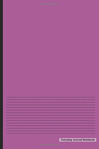 """Read Online Everyday Journal Notebook - Lined Paper (Purple Cover): 6"""" x 9"""", Ruled Lined Journal,Non-Spiral Durable Bound Journal,100 pages for Writing, Sketching & Notes pdf epub"""