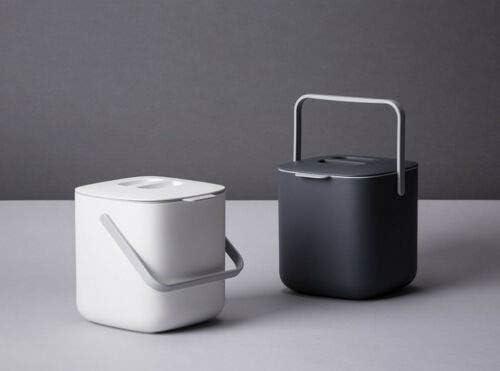Litem Food Waste Basket Bin W/Handle 2.6L (Ivory)