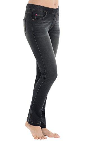 PajamaJeans - Skinny Vintage Black Wash Stretch Knit Denim Jeans for Women