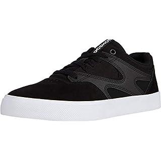 DC Men's Kalis Vulc Skate Shoe, Black/White, 10.5D M US