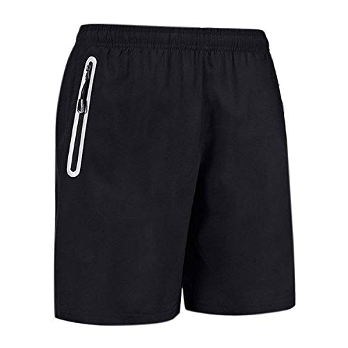 Burke Mens Running Gym Short Quick Dry Athletic Workout Shorts with Zipper Pockets