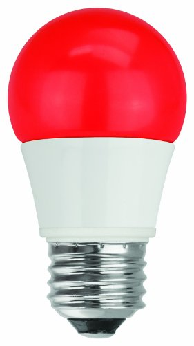 TCP 40W Equivalent, LED Red A15 Light Bulbs, Non-Dimmable (Bulb Red Led Light)