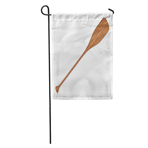 (Semtomn Garden Flag Canoe Wooden Paddle 3D Rendering Abstract Active Activity Alder Bent Home Yard House Decor Barnner Outdoor Stand 28x40 Inches Flag)
