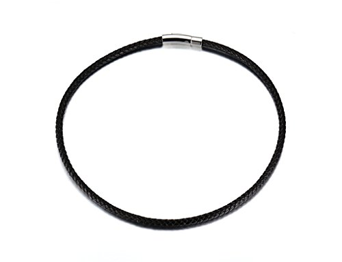 MoAndy Necklace Fashion Jewelry Stainless Steel Necklace Men Pendant Necklace Cord Black 5mm,50cm
