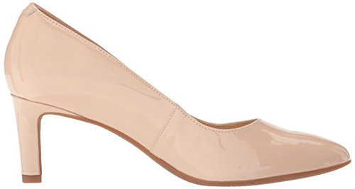 Clarks Womens Calla Rose Pump Cream In Pelle