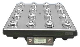 Fairbanks Scales 30102C Ultegra Roller Top Bench Scale 14 X 14 In. 150 Lb. USB Output USB