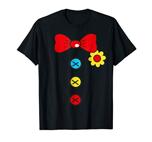 - Halloween Clown T-Shirt Costume For Man Woman And Kids