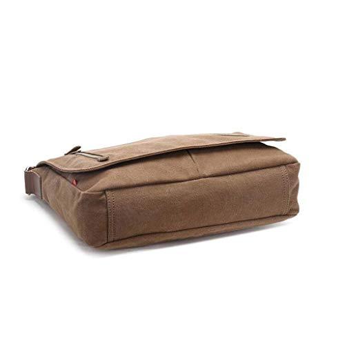 One Size Fermeture Brown Rétro couleur Toile Simple Bandoulière Noir Sac À Glissière En Pour Hommes Taille C66OYwq