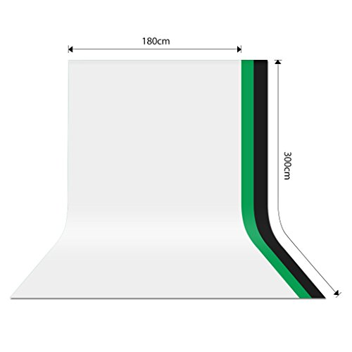 CRAPHY Upgraded 6 x 10FT / 1.8 x 3M Studio Screen Backdrop 100% Muslin Cotton Cloth Thick Opaque Background Sheet for Portrait Photo Studio Photography Professional Uses (White)