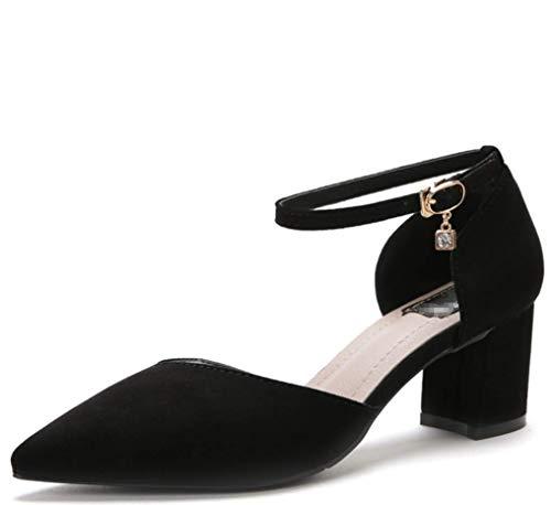 Schuhe Zhzz Durchbrochene Klettverschluss LIANGXIE Schwarz für mit Sandalen Serie Klassische Party Damen Komfort Hochzeit wqUUH7AcX6