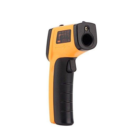 Infrarrojos -58 /°F ~ 716 /°F Herramienta de Term/ómetro Infrarrojos -50 /°C ~ 380 /°C Crewell Term/ómetro infrarrojo de Mano medidor de Temperatura de Mano sin Contacto Digital Amarillo