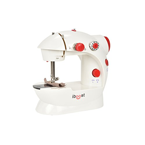 iBoost Portable Sewing Machine, Double-Thread, Cutter, and Foot Pedal, 2-Speed by iBoost