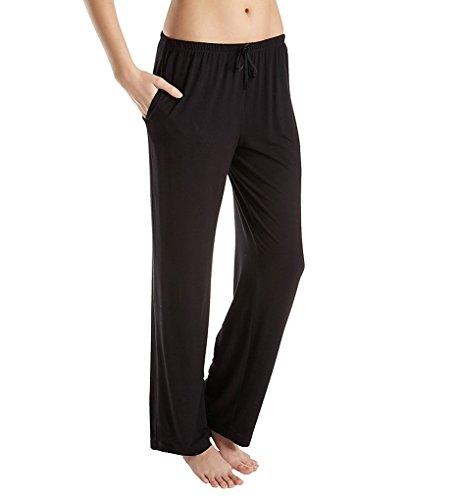 Donna Karan Women's Plus Size Modal Spandex Jersey Long Pants Black 2X