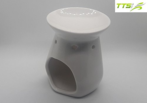 Set of 6 Gloss Finish White Ceramic Oil Warmers of 3