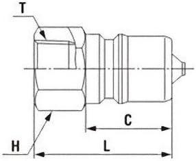 日東工器 中圧用SPカプラ TypeA プラグ(おねじ取付用) R1/2 ステンレス鋼 4P-A-FKM-SUS304