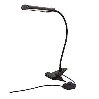 Marslg 4 Watt Led Flex Neck Clip On Table Lamp With Inline Dimmer