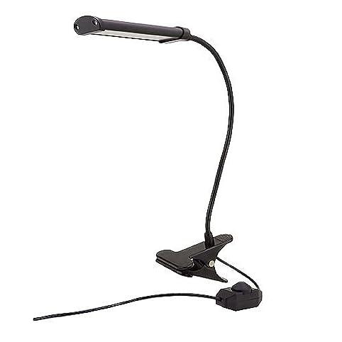 MarsLG 4-Watt LED Flex Neck Clip-On Table Lamp with Inline Dimmer ...